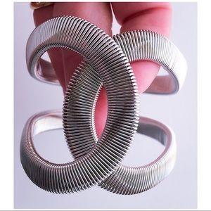 Bracelet Cuff Bangle Wide Flat Tubogas Style NWOT